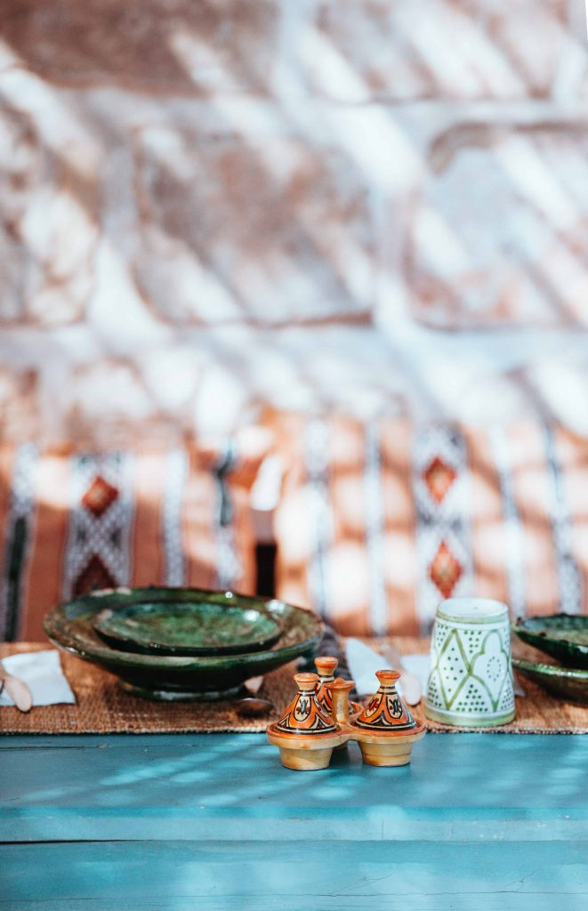Add boho style to your home by adding global accents