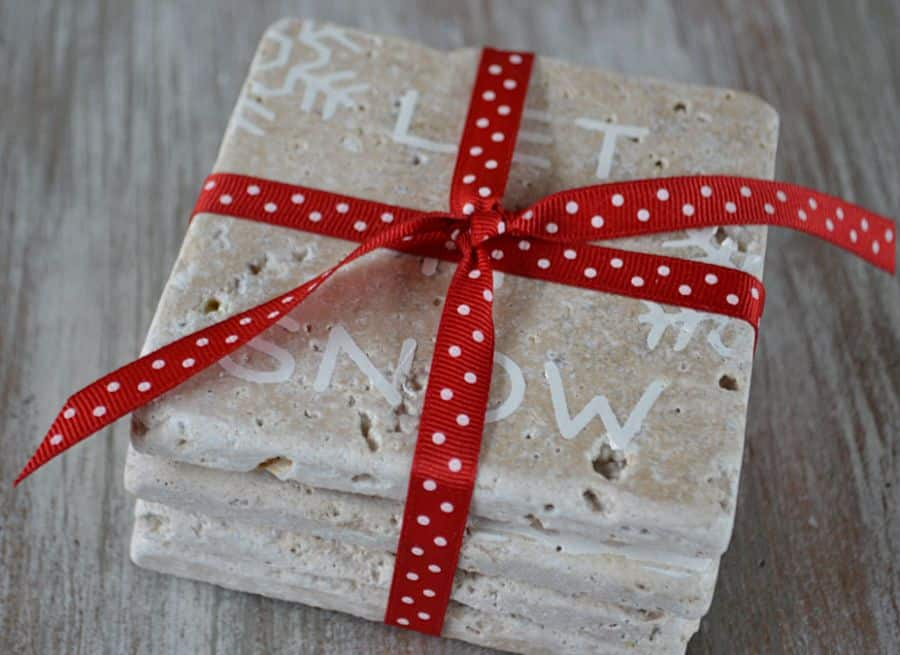 DIY Christmas Gifts DIY Coasters-1905Farmhouse
