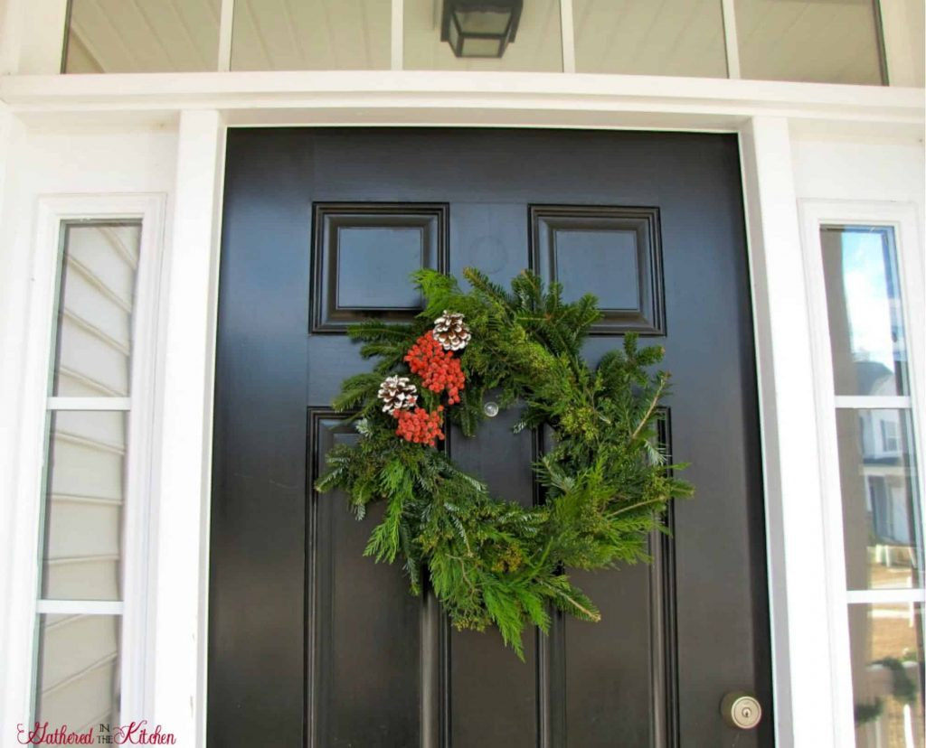 DIY Christmas Wreath by Gathered in the Kitchen