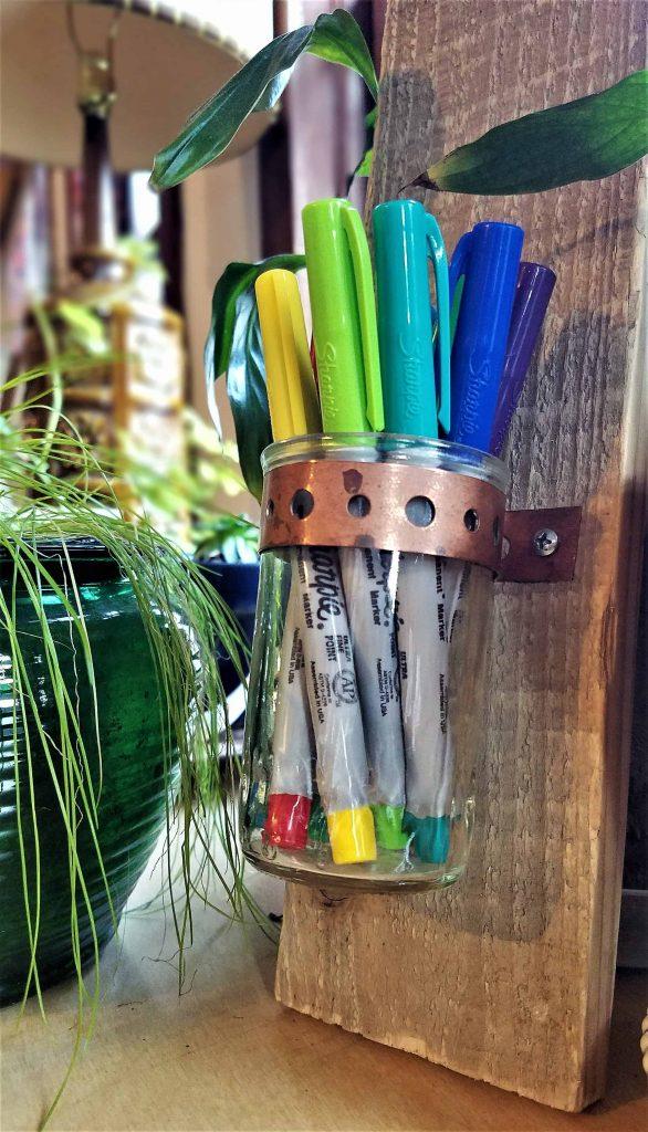 DIY candler holder gift-pen holder option