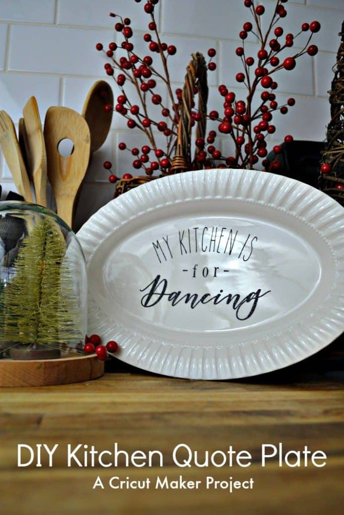 DIY Christmas Gift Personalized platter-RedCottageChronicles